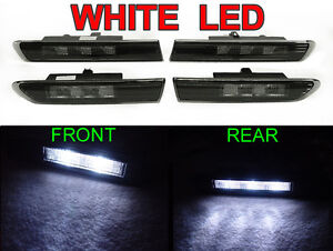 Type S Style 4PCS F + R Smoke White LED Side Marker Lights For 04-08 Acura TL