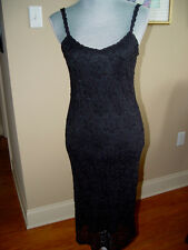 Ralph Lauren Cocktail Wiggle/Pencil Dress Size M Black Rayon Geometric CD16