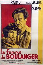 """""""LA FEMME DU BOULANGER"""" Affiche  Jean GIONO,Marcel PAGNOL, RAIMU,Ginette LECLERC"""