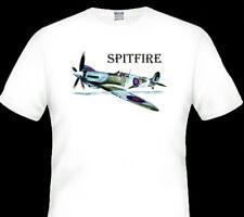 SPITFIRE  WW11 FIGHTER PLANE   QUALITY WHITE  TSHIRT   BIG  FIT