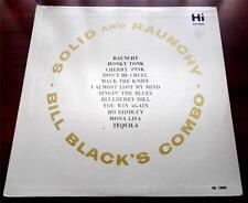 Bill Blacks Combo   Solid And Raunchy  1964  HI  HL 12003   Mono  Vinyl LP   VG+