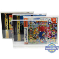 10 x Japanese Saturn & Dreamcast Game BOX PROTECTORS for Sega 0.4mm DISPLAY CASE