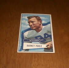 1952 DALLAS TEXANS GEORGE POOLE BOWMAN SMALL FOOTBALL CARD #11