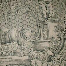 "Clarence House Rare Neoclassical Toile Handprint ""Les Enfants"" Decorator Fabric"