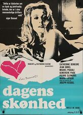 BELLE DE JOUR Danish A1 MOVIE POSTER CATHERINE DENEUVE LUIS BUNUEL 1967 RARE