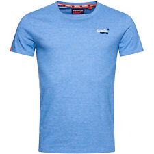 Superdry Herren Orange Label Vintage Embroidery Tee T-Shirt M1000020A blau
