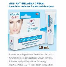 VIN21 New Anti MELASMA Cream dark spot freckles treatment skin care product 15ml