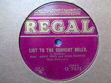 ANNIE REES & JOAN MURRAY - Convent Bells 78 disc (A++)