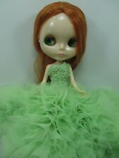 Blythe Outfit Clothing Fashion handcrafted beads tutu gown dress 45-7
