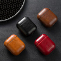 Leather Airpods Earphone Protective Case Skin Cover