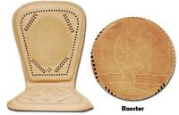 Genuine Mexican Respaldo de Cuero Leather Car/Truck Seat Cushion Rooster Cowhide