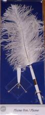 Wilton Plume Pen White Feather NEW Clear Base Wedding 120-804