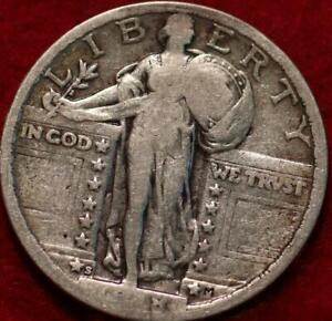1918-S San Francisco Mint Silver Standing Liberty Quarter