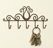 Colonial Tin Works Tulip 5 Key Hook Holder Green/Rust (1)