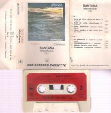 SANTANA  Moonflower 2  DIFFICULT  SPANISH TITTLES CASSETTE PAPER LABEL RED SPAIN