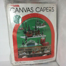 Vintage Leisure Arts Kit Plastic Canvas Capers Sleigh Ride 461 3 Sections 1985