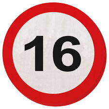 16TH BIRTHDAY PARTY 20 PAPER NAPKINS AGE TRAFFIC SIGNS