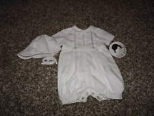 NWT NEW SARAH LOUISE PREMIE PREEMIE BOYS WWHITE OUTFIT AND HAT PRECIOUS