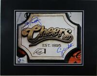 Wendt & Ratzenberger Autographed Matted 8x10 Cheers Sign- Beckett Auth *Blue