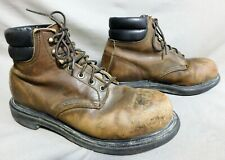MENS RED WING BROWN LEATHER STEEL TOE HIKING FARM WORK BOOTS US SIZE 8.5 D