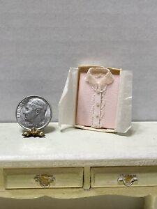 Vintage Artisan Pink Boxed Blouse Display Dollhouse Miniature 1:12