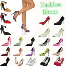 Fashion Pumps Sandals High Stiletto Heels Leather Pointed Toe Ladies Party Shoes