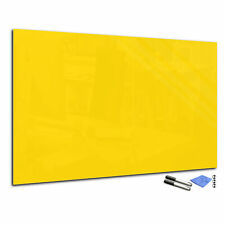 """Magnetic Dry-Erase Glass Board T01 23.6"""" x 31.5"""" yellow"""