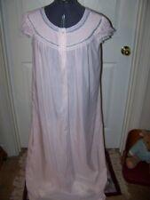 Vintage BARBIZON Blendaire Batiste Cotton Nightgown-Pink-Full Length-Sz Medium