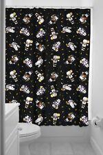 Sourpuss Kewpie Monsters Shower Curtain In Black With Rings