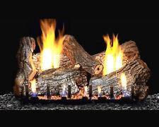 "Sassafras Vent-Free Gas Log Set Optional REMOTE 18"", 24"", 30"""