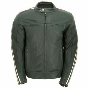 Oxford Bladon Leather Motorcycle Motorbike Lightweight CE Jacket - Racing Green