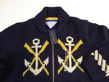 Tommy Hilfiger Naval Full Zip Wool Cardigan Sweater $299...