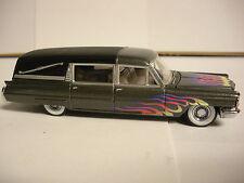 Hot Wheels 100% 1963 Cadillac Fleetwood Hearse Black w/ whitewall Real Riders