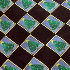 American Greetings Golden Wreath Silk Tie Christmas Tree Novelty Necktie Holiday