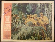 Frank Sinatra (secretarial?) Howard Koch Autograph None But The Brave Lobby Card