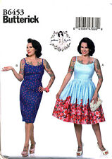 BUTTERICK SEWING PATTERN 6453 MISSES 14-22 GERTIE RETRO STYLE DRESSES W/ STRAPS