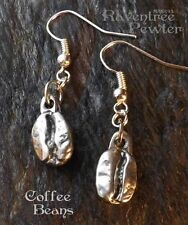 Coffee Beans - Pewter Earrings - Meditative Morning Roast, Breakfast, Jewelry