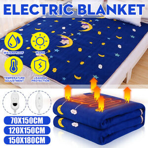 ELECTRIC BLANKET UNDER HEATED FAST HEAT WARMER HOME SINGLE DOUBLE KING BED