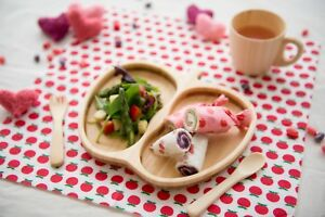 APPLE-shaped Plate, Cutleries & One Handed Mug (Handcrafted in Japan)