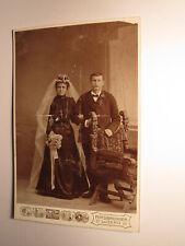 Hochzeit - Frau mit Schleier & Mann - Stuhl - 1907/08 / KAB Hirsbrunner Luzern