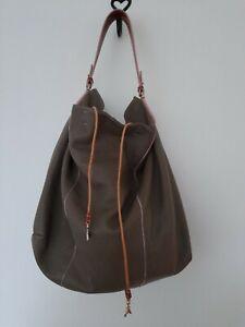 Absolutely Stunning Patrizia Pepe XL Grey Soft Leather Hobo Sac Bag