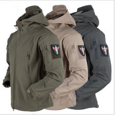 UKOutdoor Waterproof Mens Jacket Tactical Winter Coat Soft Shell Military Jacket