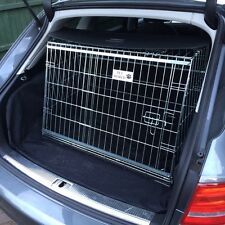 PET WORLD AUDI A4 AVANT SLOPING CAR DOG CAGE BOOT TRAVEL CRATE PUPPY GUARD