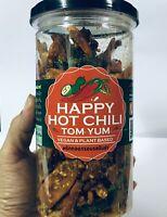 130g.Happy Hot Chili Crispy Thai Snack Seasoning Delicious Yummy Tomyum Fla.