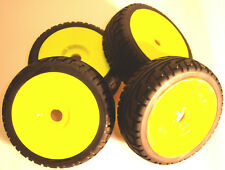 B7033Y 1/8 Scale On Road Wheel and Tyres RC Nitro Buggy Yellow x 4