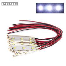DD01WCN 10pcs Pre Wired White Strip Led Light Self-adhesive Flexible 12V ~ 18V
