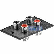 4 WAY RCA TERMINAL Wall Panel Plate Input Phono Chassis Socket Audio Connector