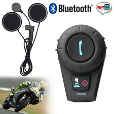 Intercomunicador Interphone Bluetooth Casco Auriculares Interfono Moto FM 500m