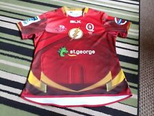 Men's BLK Queensland Reds Iron man Rugby Union Shirt Size XXL VGC