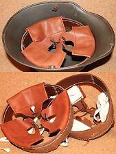 Coiffe intérieure cuir de couleur cognac  casque Allemand M16 WWI taille 66